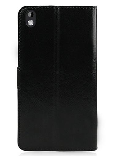 Microsonic Cüzdanlı Deri Htc Desire 816 Kılıf Siyah Renkli